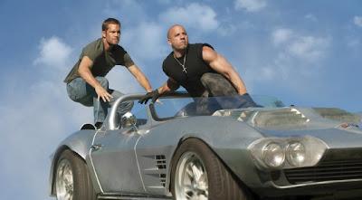 Paul Walker and Vin Diesel in action