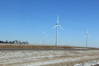 photo of wind turbines, southwestern Minnesota