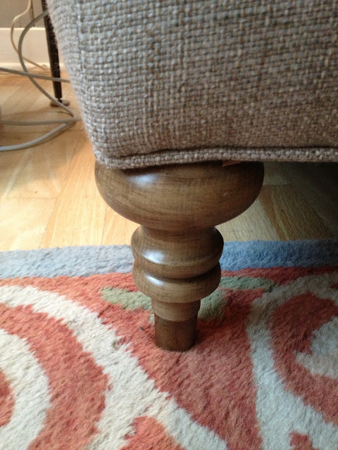 traditional sofa leg (weathered maple finish) -- The Impatient Gardener