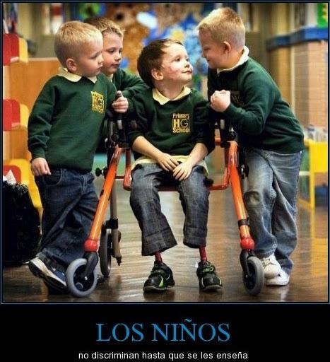 Los niños no discriminan hasta que se les enseña
