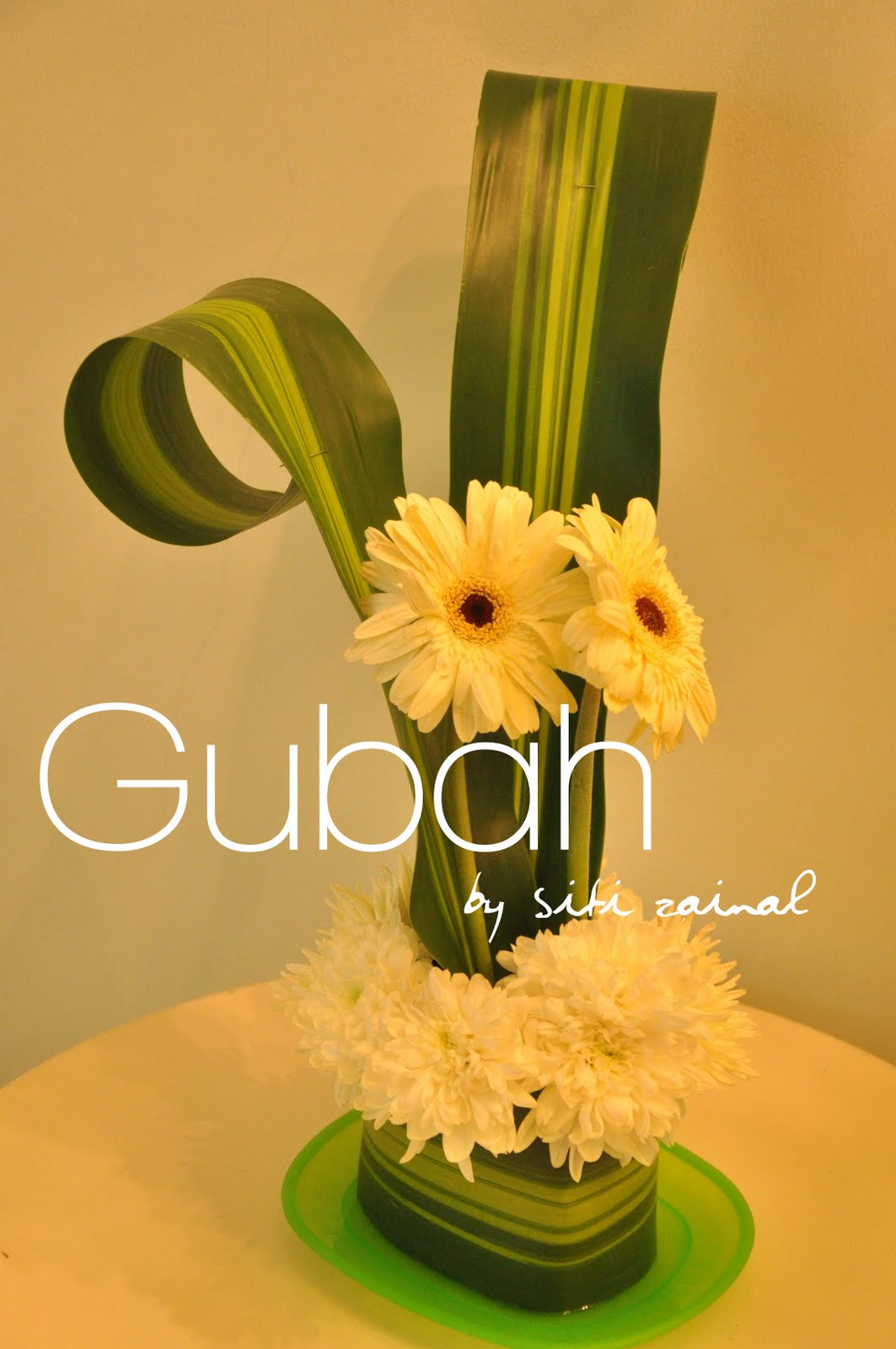 Gubah by siti zainal centerpiece samples calla lilies