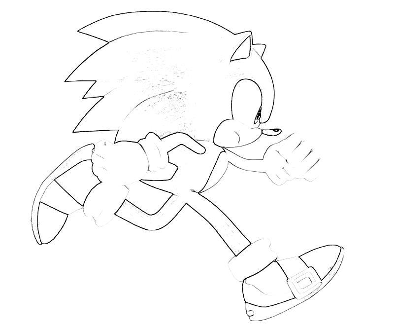 Printable Sonic Generations Sonic The Hedgehog Run Coloring Pages title=