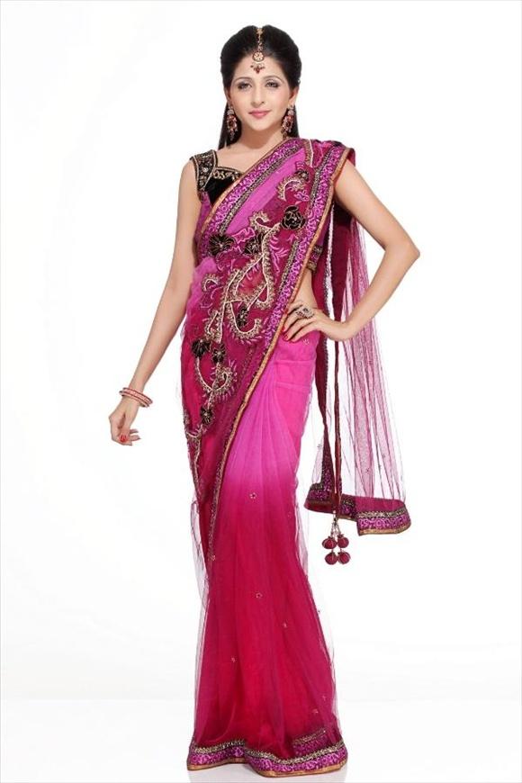 Rosebud Net Saree