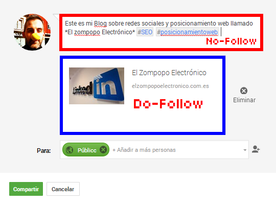 Como conseguir enlaces dofollow en google plus