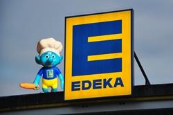 Ein Edeka-Schlumpf...