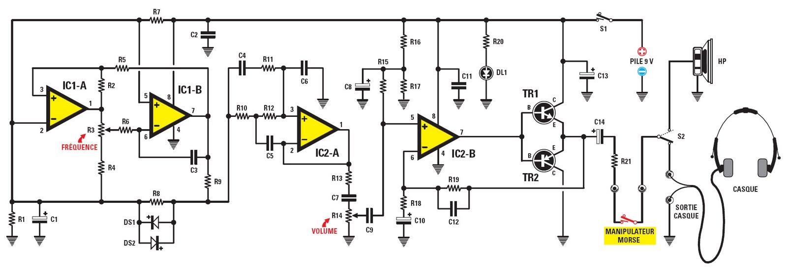 figure 2   sch u00e9ma  u00e9lectrique de l u2019oscillateur pour