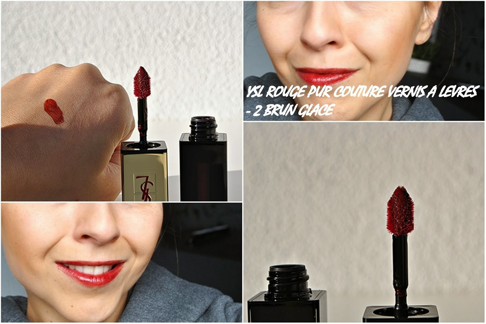 YSL ROUGE PUR COUTURE VERNIS A LEVRES - 2 BRUN GLACE
