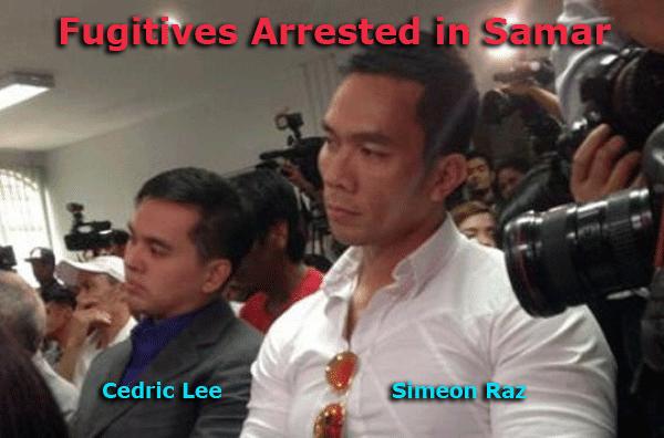 Cedric Lee and Simeon Raz Arrested in Samar