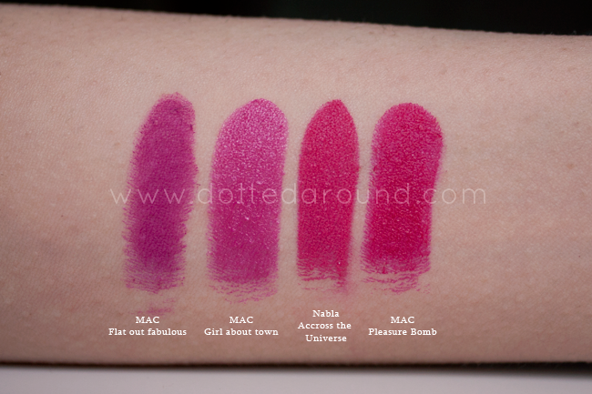 Nabla across the universe swatch rossetto