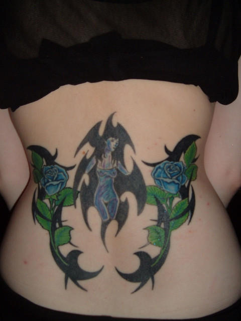 Star Tattoos For Girls Lower Back. house butterfly tattoo in