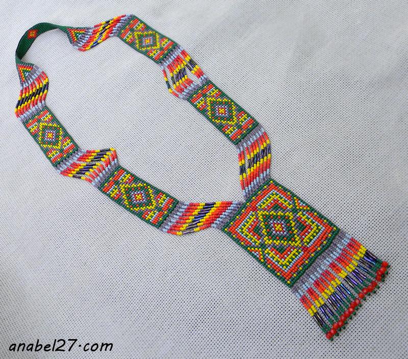 Гердан - этническое колье из бисера