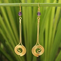 http://jewelry.novica.com/earrings/dangle/amethyst/gold-plated-amethyst-dangle-earrings-summer-buds/187681/