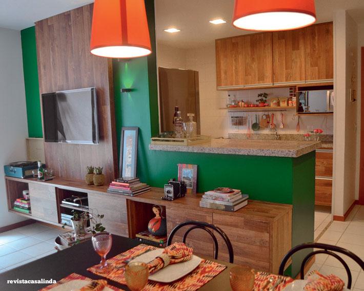 Como Decorar Uma Sala Pequena Com Sofa Verde ~ Salaintegradacomodecorar1jpg