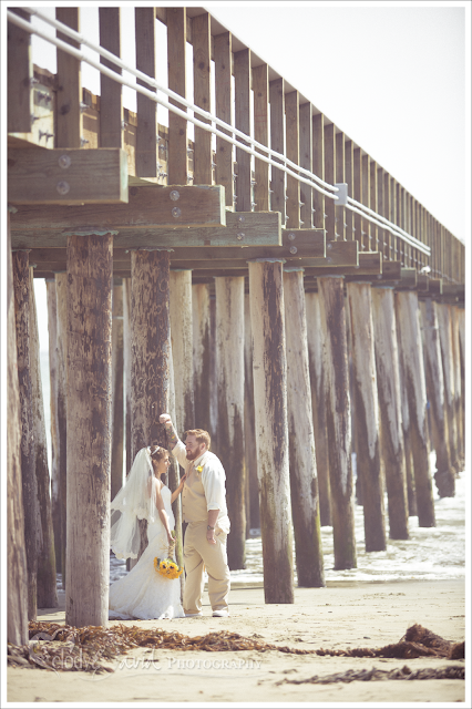 Cayucos Pier wedding photos