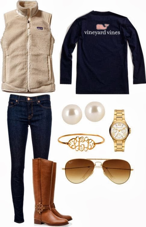Cute fall fashion collection in matching