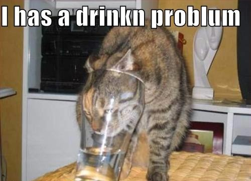 I has a drinkn problum