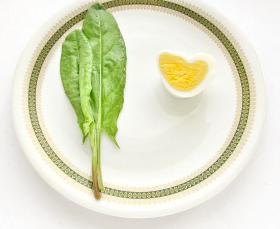 щавель, яйцо-сердце, кухня