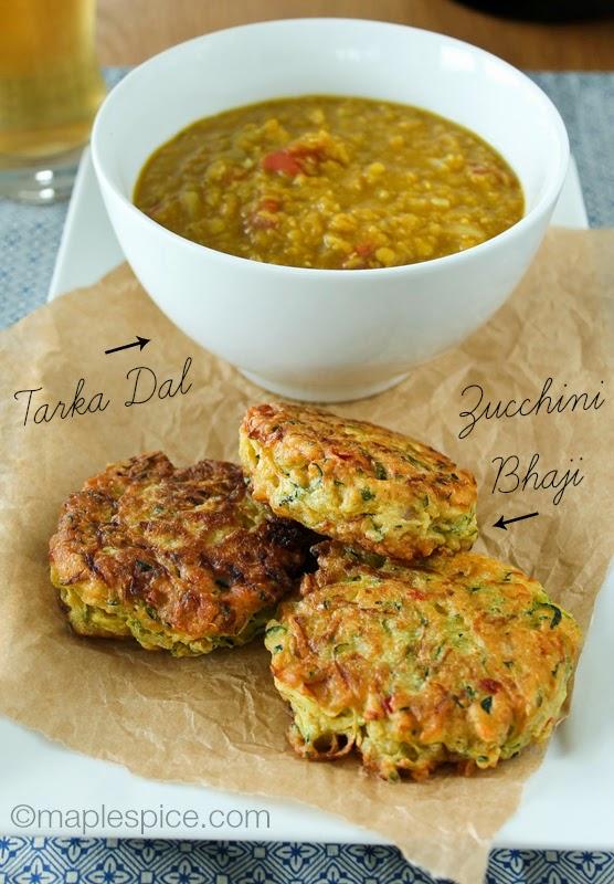Zucchini Bhaji and Tarka Dal - vegan and gluten-free!