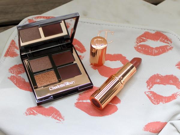 Charlotte Tilbury The Vintage Vamp Palette & Stoned Rose Lipstick.