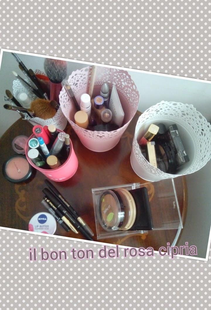 Il bon ton del rosa cipria organizzare il make up come for Sottovasi ikea