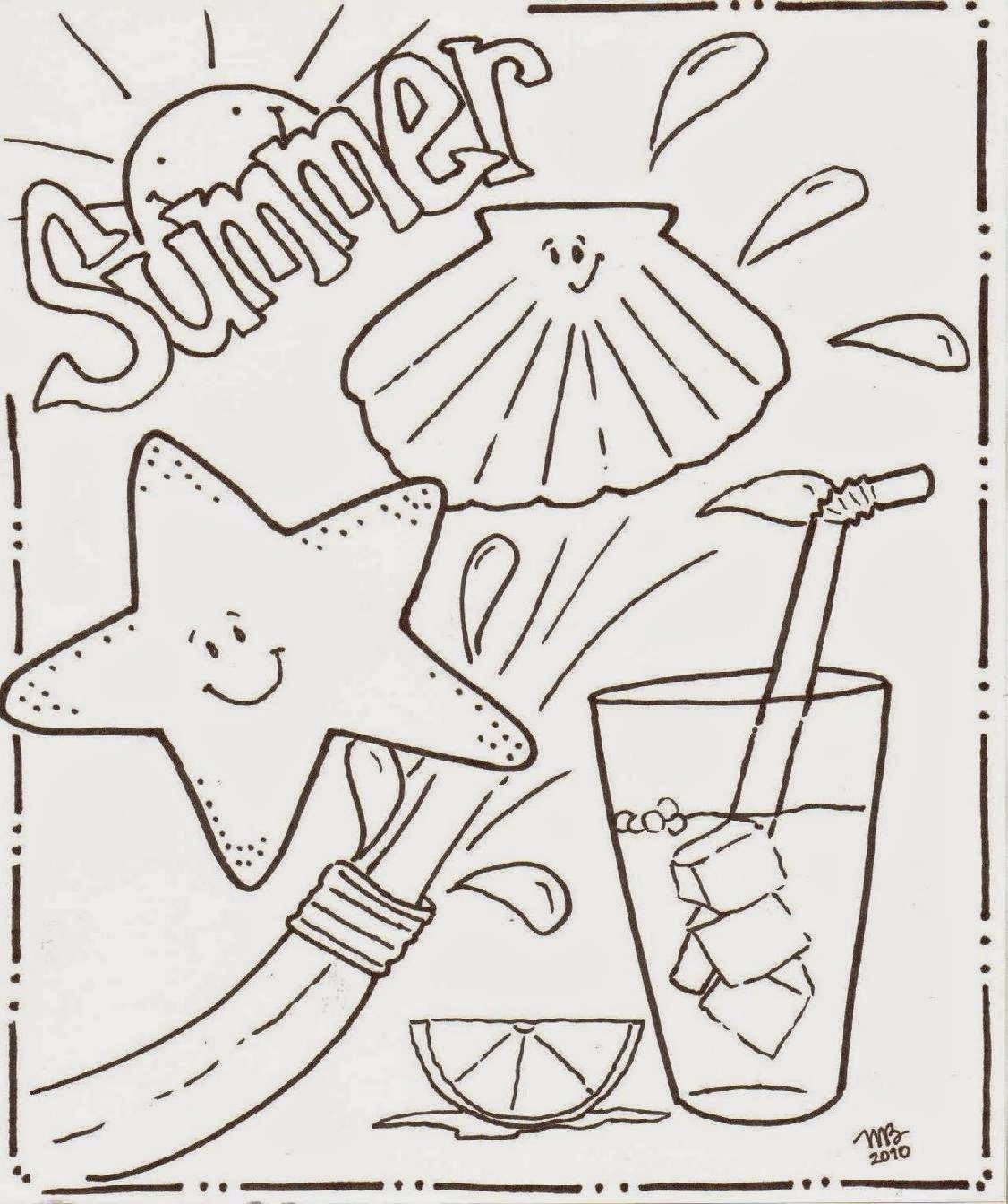 crayola coloring pages summer beach - photo#29
