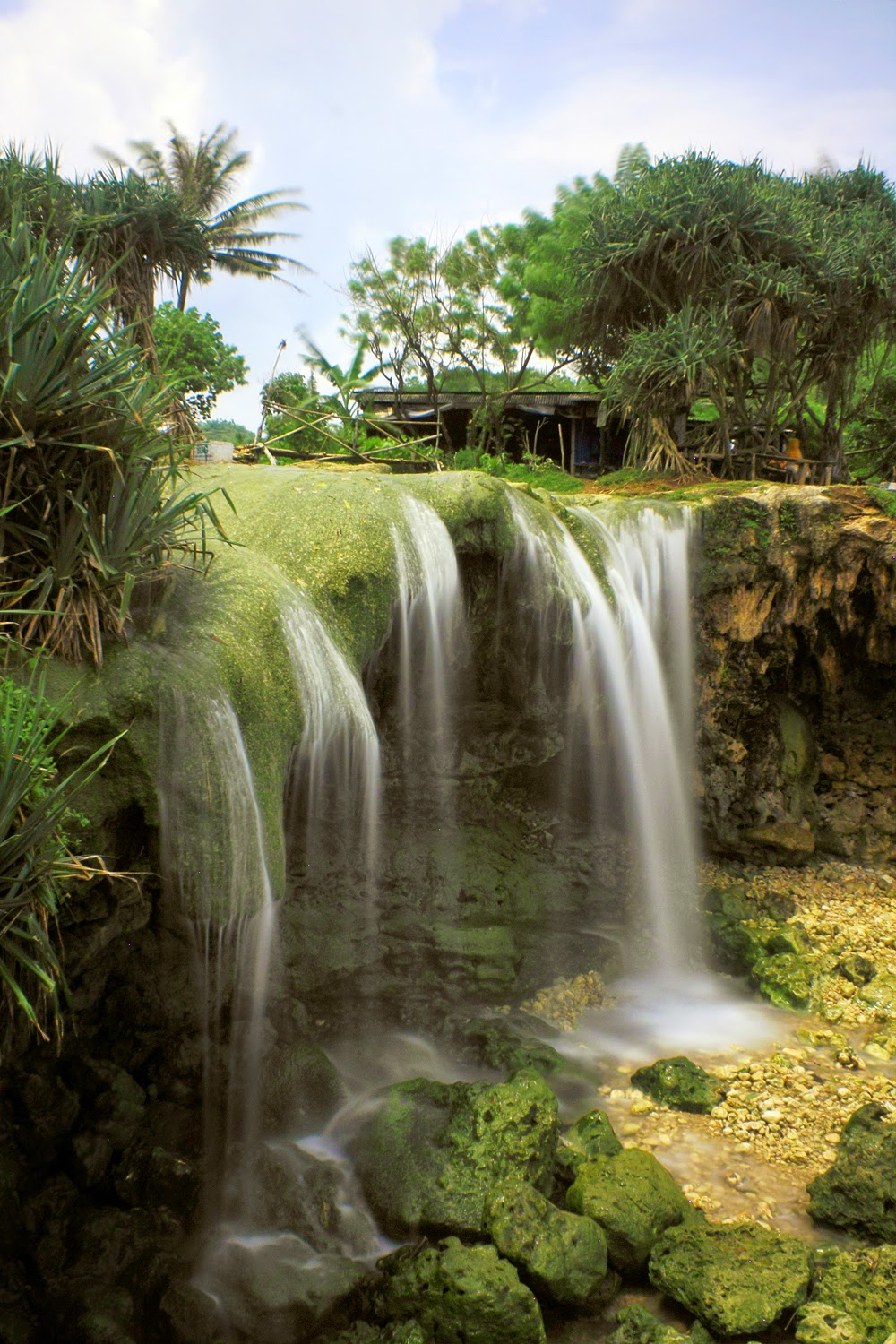 The most beautiful waterfall attraction place in jogja