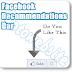 New Facebook Recommendation Bar Untuk Blogger