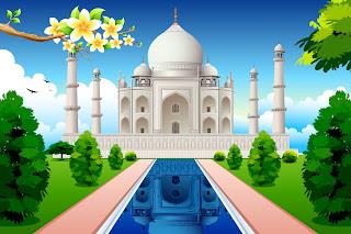 美しいモスクを臨む景色 mosque illustrations and backgrounds イラスト素材5