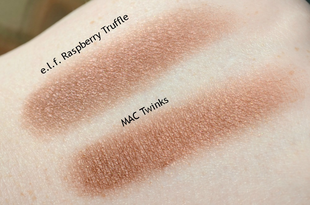 e.l.f. Studio Raspberry Truffle Single Eyeshadow | MAC Twinks Dupe