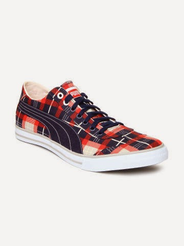 Buy PUMA Men Navy and Red 917 Gr Lo DP Checked Casual Shoes on 50% off at myntra.