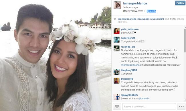 Bianca Gonzales and JC Intal in El Nido Palawan Wedding Photos