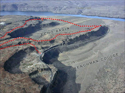 Frenchman Coulee aerial map.