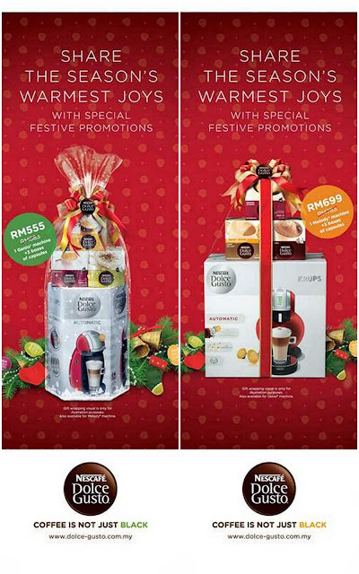 Christmas promotion for the Nescafe Dolce Gusto packages