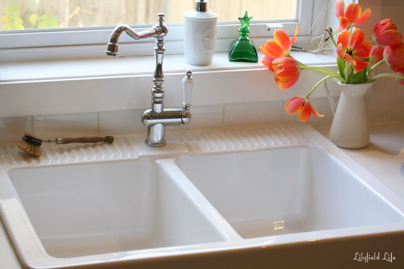 loving my ikea domsj sink - Double Ceramic Kitchen Sink