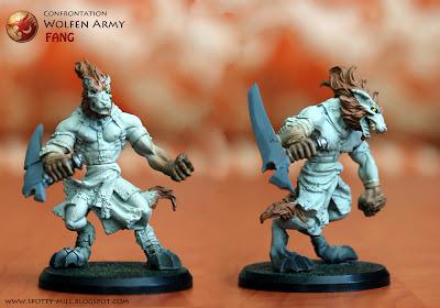 Фигурки Fang из игровой системы Confrontation: Wolfen Army