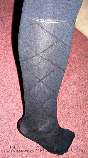 knee high argyle trouser sock