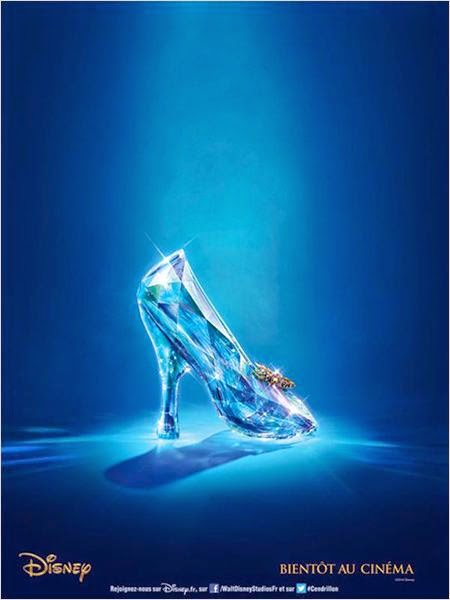 Affiche Cendrillon par Disney photographie pantoufle de verre