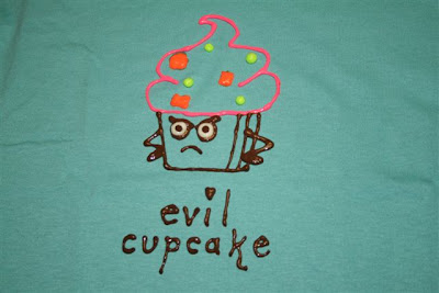 Evil cupcake T-shirt design