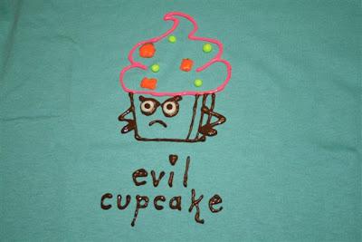 Evil cupcake T-shirt design