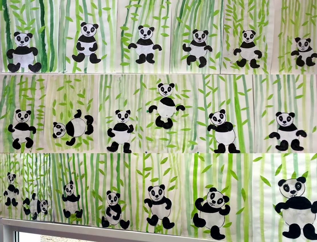 Laclassedefrederique les pandas - Coloriage panda maternelle ...