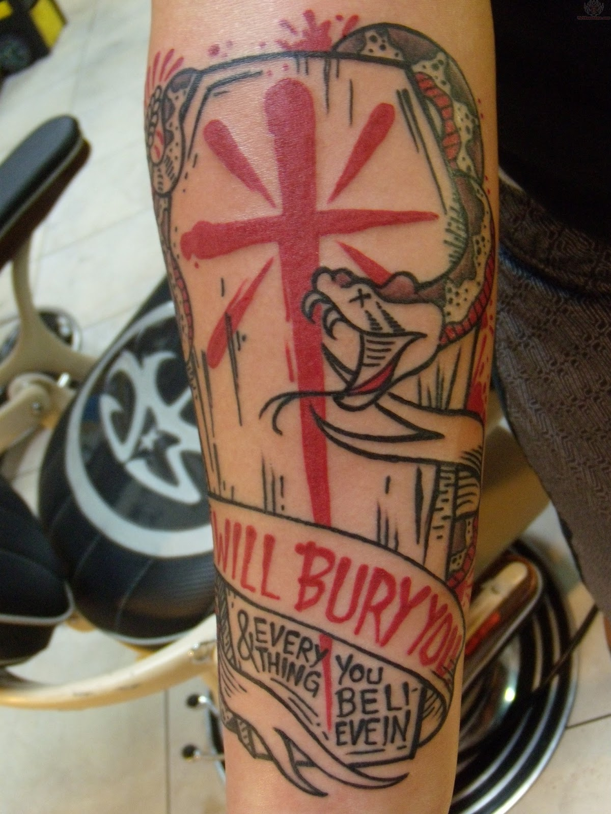 Coffin Tattoo On Arm For Menjpg
