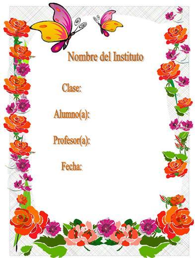 Caratulas Para Trabajos Flores