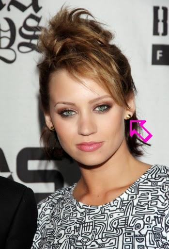 Kim Wyatt of the Pussycat Dolls wearing Jenny Dayco earrings