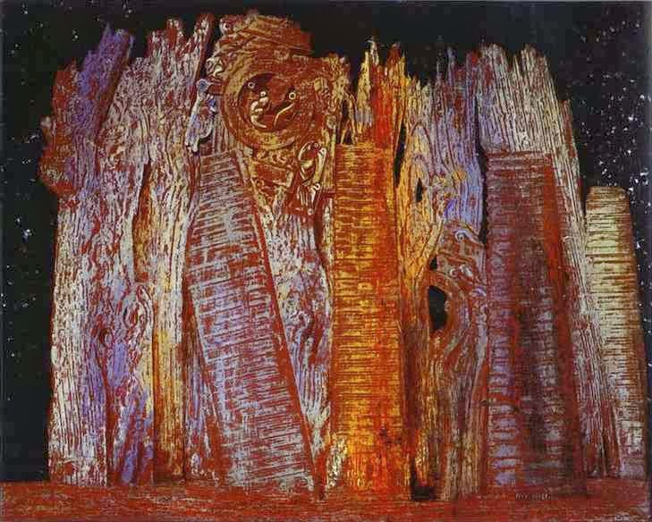 Vision induced by the nocturnal aspect of the porte St. Denis (Max Ernst, 1927)