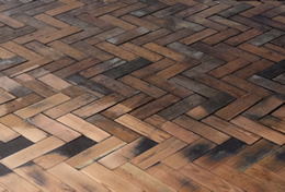 Parquet Wood Block Flooring Needs gap Filling