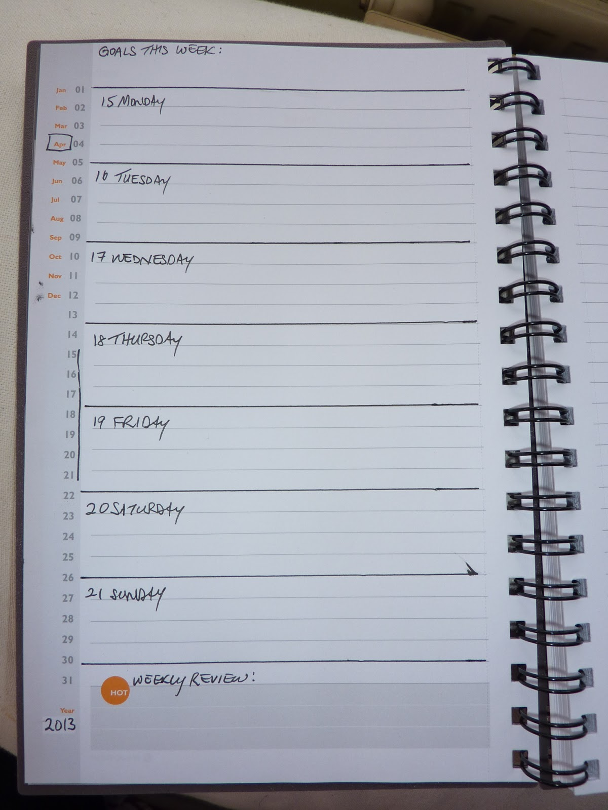 Weekly Calendar Notebook : Plannerisms at a glance planning notebooks