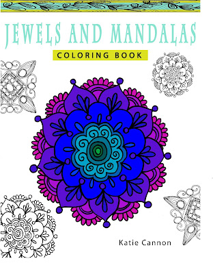 Jewels and Mandalas Coloring Book for Adults by Katie Cannon release date early 2016