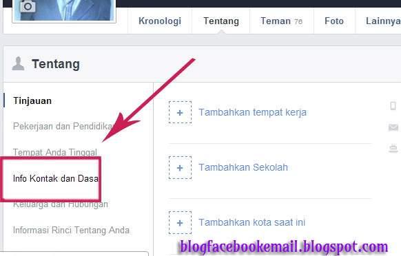 daftar email facebook