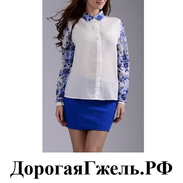 Блузка Гжель В Волгограде