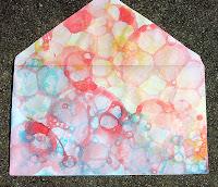 bubble tie-dye paper